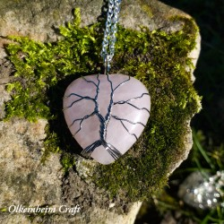 Coeur de vie quartz rose